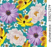 elegance seamless color flower...   Shutterstock .eps vector #358271279