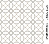 islamic pattern grey lines with ... | Shutterstock .eps vector #358271621