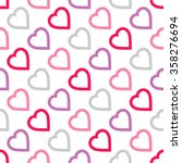 seamless pattern with hearts   Shutterstock .eps vector #358276694