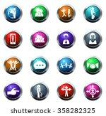 icons set for social network... | Shutterstock .eps vector #358282325
