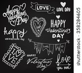 vector set with labels for... | Shutterstock .eps vector #358284605