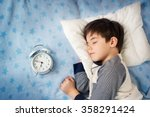 six years old child sleeping in ...   Shutterstock . vector #358291424