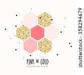 modern chic pink gold vector... | Shutterstock .eps vector #358294679