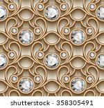 vintage gold ornament  vector... | Shutterstock .eps vector #358305491