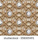 vintage gold ornament  vector...   Shutterstock .eps vector #358305491