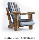 Toys Wooden Chair  On White...