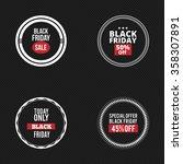 black friday labels   Shutterstock .eps vector #358307891
