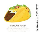 mexican cuisine with taco | Shutterstock .eps vector #358327769