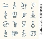 music instruments line icon set | Shutterstock .eps vector #358331849