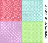 colorful patterns with hearts ... | Shutterstock .eps vector #358336349