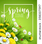 fresh spring background with... | Shutterstock .eps vector #358337597