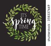 floral spring wreath... | Shutterstock .eps vector #358337669