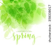 Watercolor Background With...