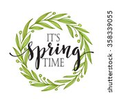 words it's spring time with... | Shutterstock .eps vector #358339055