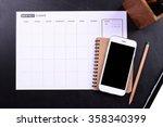 blank screen smartphone with... | Shutterstock . vector #358340399