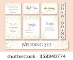 wedding set cards with the... | Shutterstock .eps vector #358340774