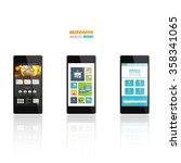 website template on smart phone ...