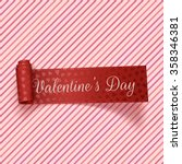 valentines day realistic red... | Shutterstock .eps vector #358346381