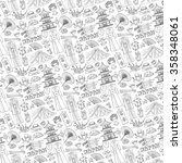 japan doodle elements pattern... | Shutterstock .eps vector #358348061