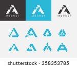 letter a logo icon design... | Shutterstock .eps vector #358353785