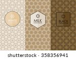 vector set of templates... | Shutterstock .eps vector #358356941
