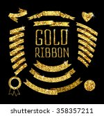 ribbon of gold glittering stars ... | Shutterstock .eps vector #358357211