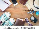 tourism planning and equipment... | Shutterstock . vector #358357889