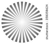 sunburst pattern   retro vector ... | Shutterstock .eps vector #358358624