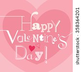 valentines day card with... | Shutterstock .eps vector #358364201