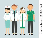 medical team doctor nurse group ... | Shutterstock .eps vector #358367861