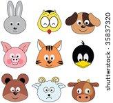 cartoon animals greeting... | Shutterstock . vector #35837320