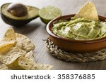 guacamole with avocado  lime ... | Shutterstock . vector #358376885
