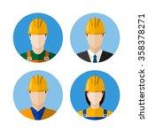 set of builders avatars.... | Shutterstock .eps vector #358378271