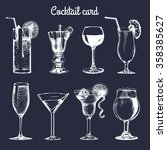 cocktail card. hand sketched... | Shutterstock .eps vector #358385627