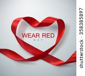 National Wear Red Day. Vector...