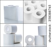 toilet paper collage  | Shutterstock . vector #358388765