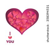 greeting with lovely heart | Shutterstock .eps vector #358394531