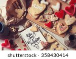 cooking of homemade cookies for ... | Shutterstock . vector #358430414