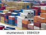freight containers at the docks ...   Shutterstock . vector #3584319
