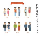 set of people different... | Shutterstock . vector #358442771
