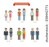 set of people different... | Shutterstock . vector #358442771