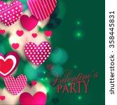 valentine. set of stickers in... | Shutterstock .eps vector #358445831