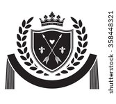 coat of arms   shield with... | Shutterstock .eps vector #358448321