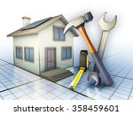 some tools used for home... | Shutterstock . vector #358459601
