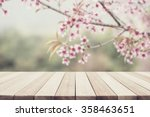 empty top wooden table and... | Shutterstock . vector #358463651