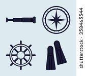 sea and nautical equipment | Shutterstock .eps vector #358465544