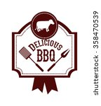 delicious barbecue design  | Shutterstock .eps vector #358470539