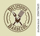 delicious barbecue design  | Shutterstock .eps vector #358470635