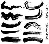 brush stroke illustrations....   Shutterstock .eps vector #358473314
