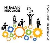 human resources design   Shutterstock .eps vector #358476971